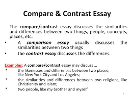 Essay Of Comparison And Contrast Examples Ppt Compare And Contrast Essay Powerpoint Presentation