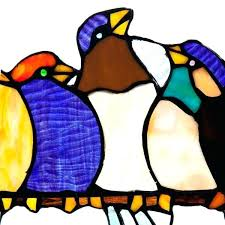 stined glss pnel rt line stained glass birds on a wire pattern