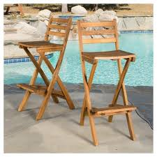 target patio bar set. Simple Patio Tundra Set Of 2 Acacia Wood Folding Patio Bar Chair  Natural Christopher  Knight Home  Target On A