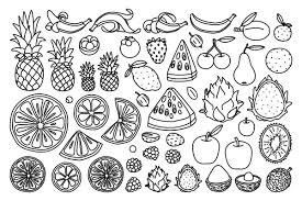 Collection of fruits coloring pages, printable and online: Food Coloring Pages 20 Free Printable Coloring Pages Of Food That Will Make Your Stomach Growl Printables 30seconds Mom