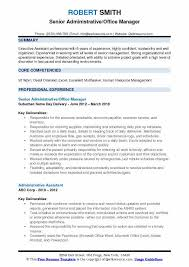 Office Management Resume Administrative Office Manager Resume Samples Qwikresume