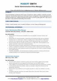 Admin Manager Cv Sample Administrative Office Manager Resume Samples Qwikresume
