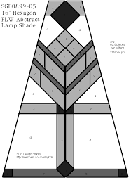 frank lloyd wright lamp stained glass pattern