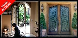 wrought iron door gallery leaded glass inserts toronto