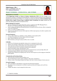 Curriculum Vitae Formats Letter Format Mail