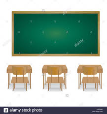 School Chair Drawing Stock Vector Classroom Table Intended Design