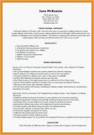 Dialysis Technician Resume Sample Beautiful 40 Patient Care Fascinating Dialysis Technician Resume Pdf