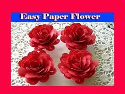 How To Make A Beautiful Flower With Paper How To Make Easy Beautiful Paper Flower Youtube