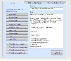 Set Up Invoice Email Message