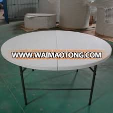 6ft 180cm dining round plastic folding table with folding leg