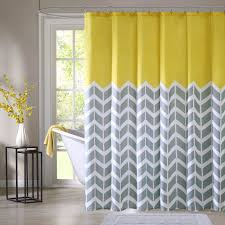 yellow and grey chevron shower curtain. new yellow gray shower curtain chevron zig zag fabric bathroom bath 72 inch nwt | what\u0027s it worth and grey