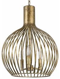 rajah hollywood regency antique gold metal 3 light cage pendant transitional pendant lighting