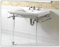console sink with chrome legsmarble metal legs standard collection by american