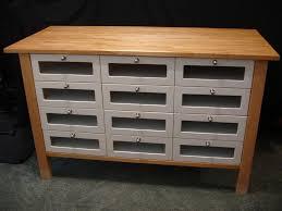 ikea varde freestanding 12 drawer kitchen storage birch wood unit