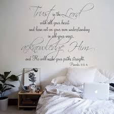 Scripture Quotes Extraordinary Religious Quote Vinyl Wall Decal Trust In The Lord With All Your