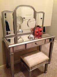 glass makeup vanity white with top diy table lights competent amazing design