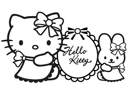 Small Picture Hello Kitty Coloring Sheets Christmas Coloring Pages For Kids