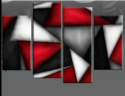 red black white grey abstract canvas picture triangles wall art 4 on grey red wall art with red blossom tree extra large canvas wall art on black grey white 60