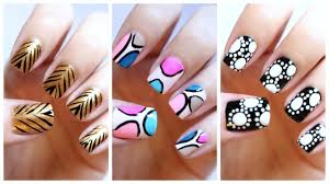 Easy Nail Art For Beginners!!! #19 | JennyClaireFox - YouTube