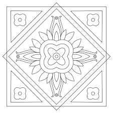 Small Picture Square Mandala coloring page Free Printable Coloring Pages