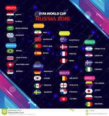 World Cup Tournament Chart World Cup 2018 Football Group Tournament Eps 10 Editorial