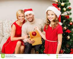 Family Christmas Photo Smiling Family Decorating Christmas Tree Stock Photo Image 35225540