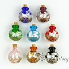 small glass bottles for pendant necklaces empty vial necklace miniature glass jars assorted