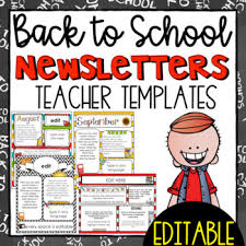 Newsletter Templates Pages Back To School Newsletter Templates Editable
