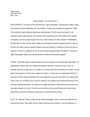 the sixth sense essay dylan brennan period in the movie the  5 pages finalmovieproject