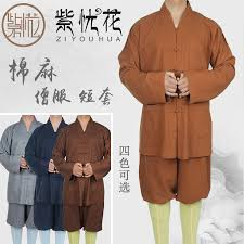 USD 78.50] Buddhist cotton monk clothes short monk suit short set small  men's and women's summer and autumn monk clothes nun clothing. - Wholesale  from China online shopping | Buy asian products