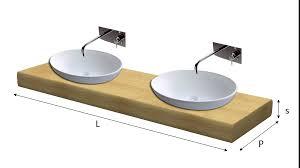 Porte In Legno Massello Grezze : Top lavabo legno massello su misura