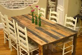 Unique Kitchen Tables For Interior Rustic Kitchen Tables Combine With White Painting Unique