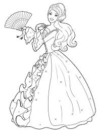 Small Picture Fancy Coloring Pages Of Princesses 64 For Coloring for Kids with