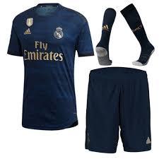 19 20 Real Madrid Away Navy Soccer Jerseys Kit Shirt Short Socks