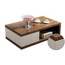 bn design high gloss white and walnut coffee table with white coffee table with drawers uk