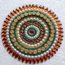 Kundan Rangoli Designs Small Circular Kundan Rangoli