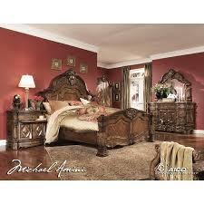 King Size Bedroom Suit Aico 6pc Windsor Court King Size Bedroom Set In Vintage Fruitwood
