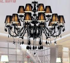 black chandelier shades modern chandelier brief black candle crystal chandelier lamps dining room light with black