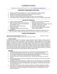 Property Manager Resume Under Fontanacountryinn Com