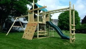 outdoor playset plans train wood designs backyard