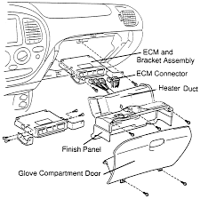 The ecm is usually found behind the glove box2000 tundra shown others similar