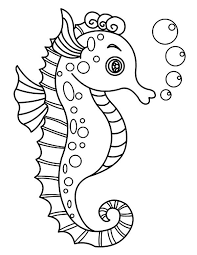 Aboriginal Sea Horse Colouring Pages Preschool Curriculum Themes