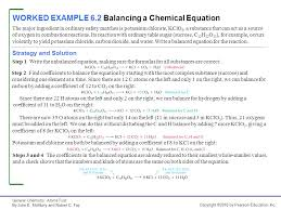 worked example 6 2 balancing a chemical equation