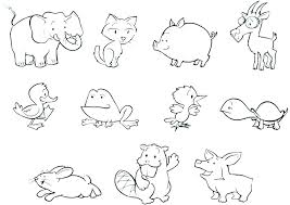 Farm Animals Coloring Page Baby Farm Animal Coloring Pages Photo To