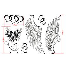 Sexy čisté Andělská Křídla Tetování Samolepky Dočasné Tetování 1 Ks