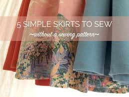 Simple Skirt Pattern Enchanting 48 Easy Skirts To Make Refashion Without A Sewing Pattern By