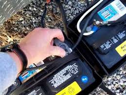 how to hook up two batteries on a travel trailer youtube travel trailer battery hookup diagram at Rv Battery Wiring Color