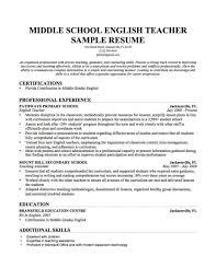Skills Of A Teacher Resume Inspiration High School Teacher Resume Objective For Sample Middle 71
