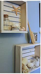 white nautical beach shelf bathroom