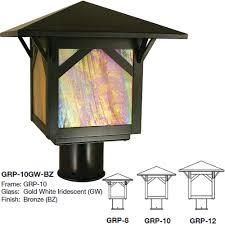 arroyo craftsman grp greenwood mission exterior lamp post light loading zoom